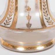 Exquisite Pair Art Deco Glass Vases Karat Gold