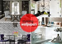 Eye Catching Wallpapered Rooms Dream Home Style