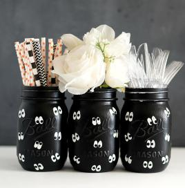 Eye Mason Jars Halloween Jar Crafts Love