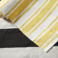 Fab Rugs Lucky Yellow White Striped Indoor Outdoor Area