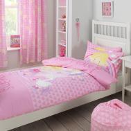 Fairy Tale Dreams Princess Hearts Kids Girls Pink Cotton