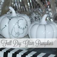 Fall Diy Glam Pumpkins