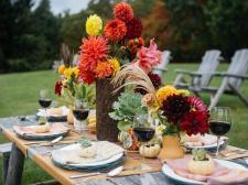 Fall Entertaining Idea Farm Table Dinner Party