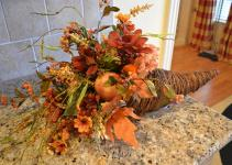 Fall Harvest Cornucopia Arrangement Kristenscreations