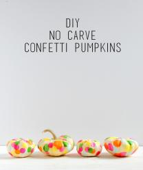 Fall Kids Craft Carve Confetti Pumpkins Mod Podge Rocks