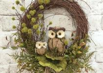 Fall Owl Wreath Doorfall Decor Door