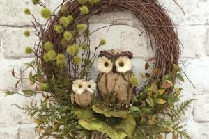 Fall Owl Wreath Doorfall Decor Door