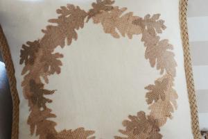 Fall Sew Burlap Leaf Pillow Diy Stonegable