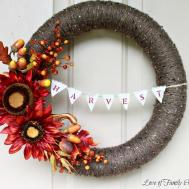 Fall Wreath Harvest Bunting Pool Noodle