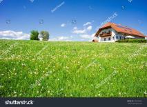 Family House Summer Landscape Taken Upper Austria