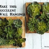 Faux Succulent Wall Hanging Craftsunder10hoa
