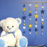 Felt Wall Hanging Star Nursery Decor Minimalist