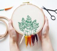 Felted Veggies Cling Embroidery Hoops Veselka Bulkan