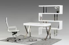Ferris Modern White Lacquer Office Desk