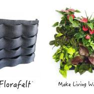 Florafelt Pocket Vertical Garden Planter Plants Walls