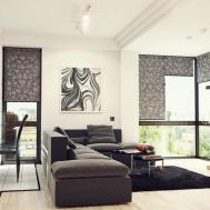 Floral Pattern Rug White Living Room Walls Accent