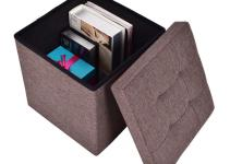 Folding Storage Cube Ottoman Seat Stool Easy Box Footrest