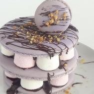 Foolproof Large French Macarons Smores Stack Resting