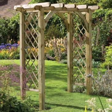 Forest Garden Ultima Pergola Arch Trellis Sides Pressure