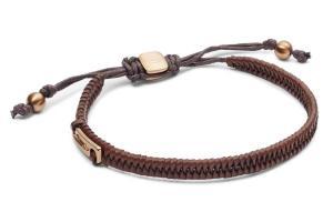 Fossil Vintage Casual Brown Leather Bracelet Jf