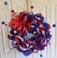 Fourth July Wreath Patriotic