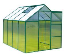 Foxhunter Green Polycarbonate Greenhouse Aluminium