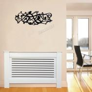Foxhunter White Painted Radiator Cover Wall Cabinet Wood