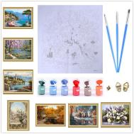 Frameless Paint Number Diy Oil Painting Canvas Kits