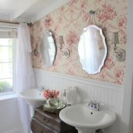 French Cottage Bathroom Country