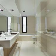 French Villa Master Bed Bathroom Interior Design Ideas