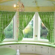 Fresh Bay Window Curtain Decorating Ideas
