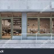 Front Cafe Shop Restaurant Design Stock Illustration