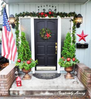 Front Doors Ideas Door Holiday Decorating Idea
