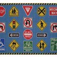 Fun Rugs Time Traffic Signs Area Rug 130