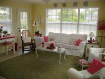 Furniture Elegant White Sunroom Living Room