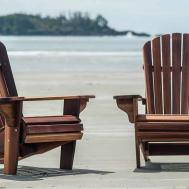 Furniture Minimalist Brown Adirondack Chair Cushions