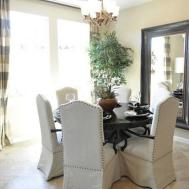 Furniture Print Parson Chair Slipcovers