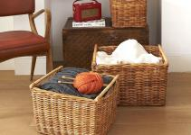 Furniture Wicker Storage Basket Ideas Make Your Room