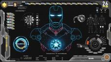 Futuristic Avengers Jarvis Shield Theme Skin
