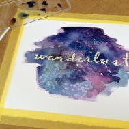 Galaxy Watercolor Wall Art Masking Fluid Diy