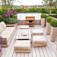 Garden Roof Design Awesom Popul Balcony Lighting