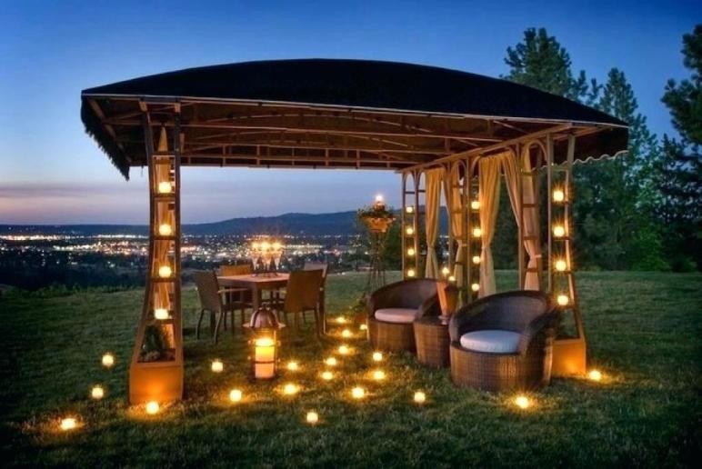 Gazebo Lighting Idea Project Backyard Outdoor Porch