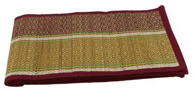 Geometric Decorative Reversible Maroon Kusha Grass Yoga