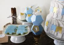 Geometric Elephant Themed Baby Shower