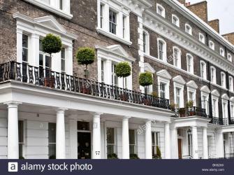 Georgian House Fronts Onslow Square South Kensington