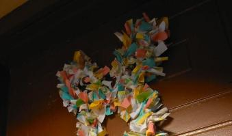 Giggleberry Creations Fabric Scrap Easter Bunny Wreath Diy