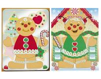 Gingerbread Man Sticker Sheets Kids Christmas Crafts