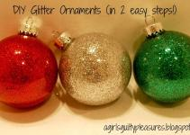 Girl Guilty Pleasures Diy Glitter Ornaments