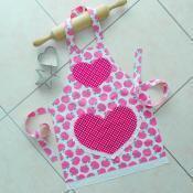Girls Apron Pink Kids Kitchen Craft Art Play Bobsidi