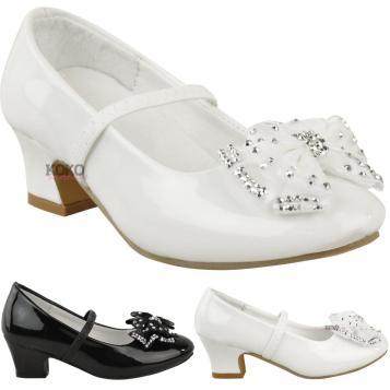 Girls Babies Childrens Wedding Party Sandals Low Heel
